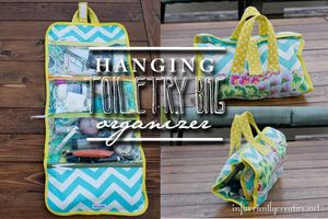 Hanging Toiletry Bag Organizer by Infarrently Creative