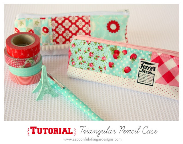 Triangular Pencil Case by a Spoon Full of Sugar