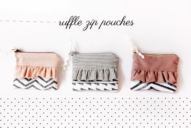 Ruffle Zipper Pouch by See Kate Sew