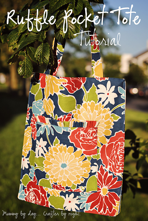 Ruffled Pocket Tote by Mommy by Day, Crafter by Night