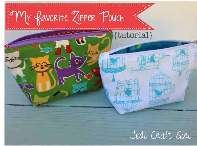 My Favorite Zipper Pouch by Jedi Craft Girl