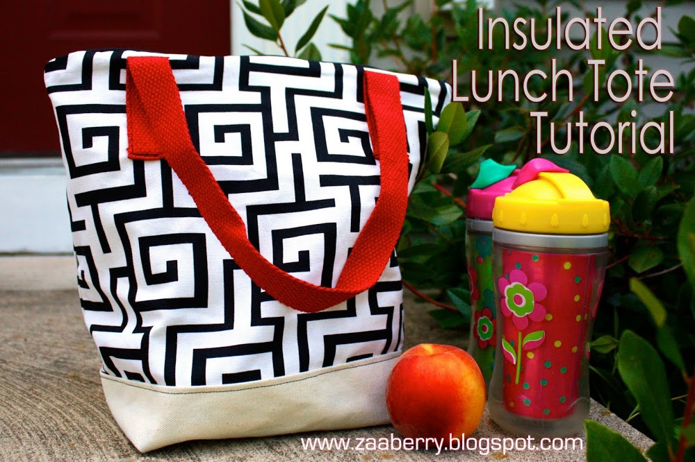 Insulated Lunch Tote by Zaaberry