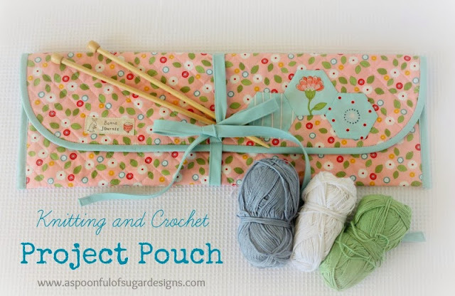 Knitting and Crochet Project Pouch by A Spoon Full of Sugar
