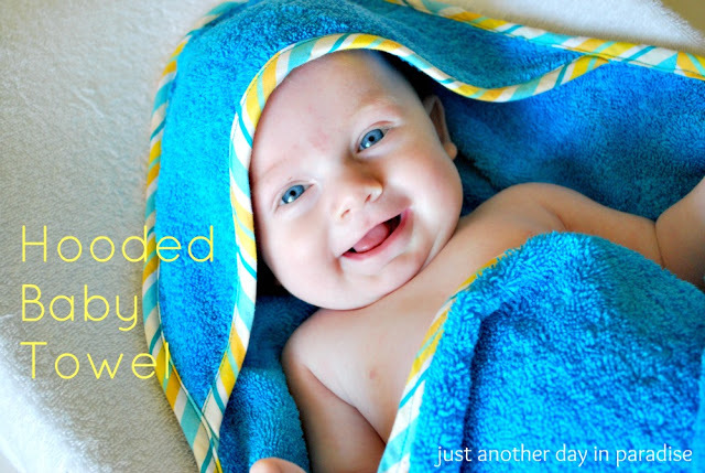 Hooded Baby Towel by Just Another Day in Paradise