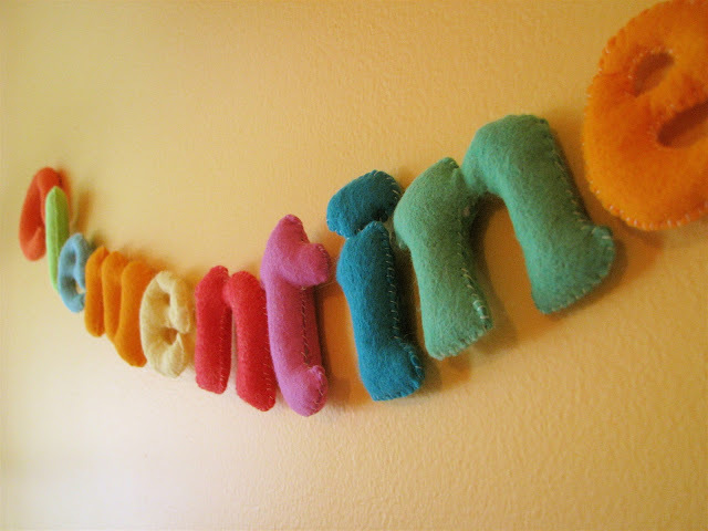 Felt Letters from Made by Rae