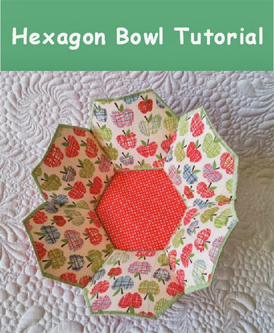 Hexagon Bowl by Geta's Quilting Studio