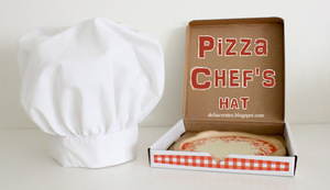 Pizza Chef's Hat by Delia Creates