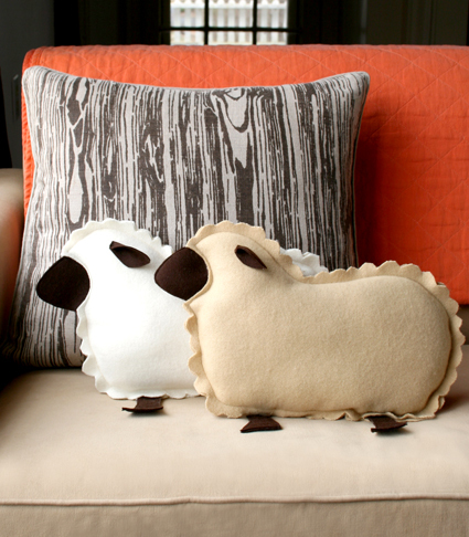 Little Lamb Pillows from Molly's Scetchbook