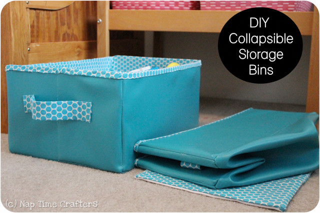 Collapsible Storage Bins by Nap Time Crafters