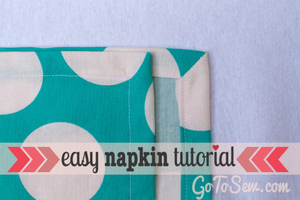 Easy Cloth Napkins by Go To Sew