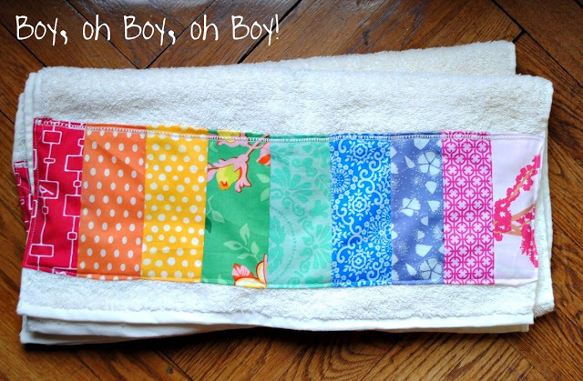 Rainbow Bath Towel by Boy, oh Boy, oh Boy!