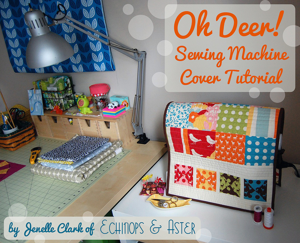 Sewing Machine Cover by Echinops and Astor