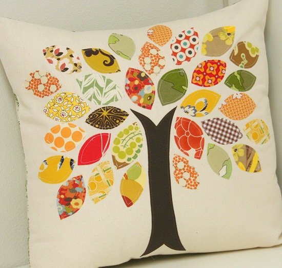 Scrap Buster Fall Pillow by Cluck Cluck Sew
