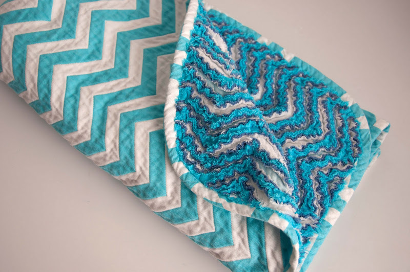 Chevron Chenille Baby Blanket by Aesthetic Nest
