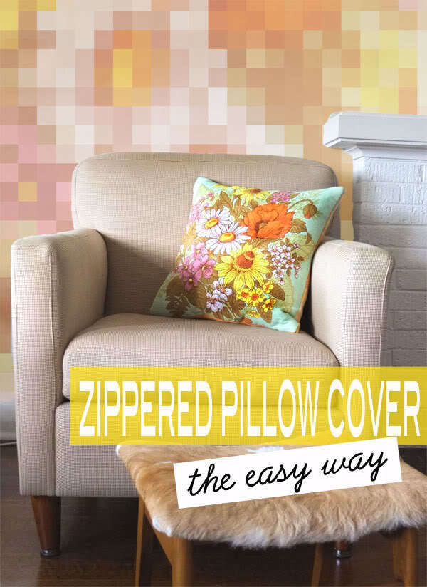 Zippered Pillow Cover from My Poppet