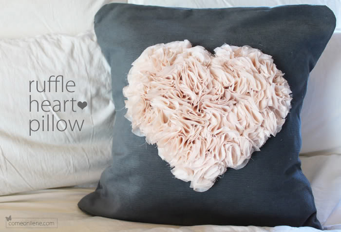 Ruffle Heart Pillow by Come On, Ilene