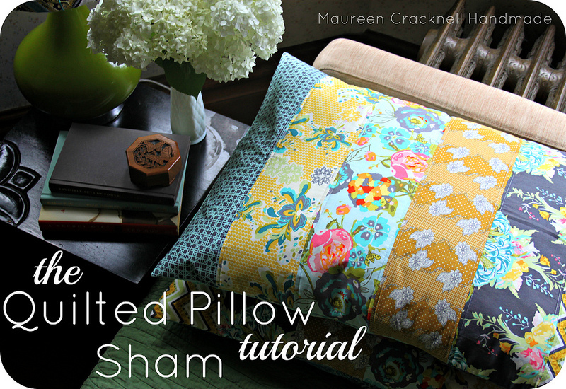 The Quilted Pillow Sham by Maureen Cracknell Handmade