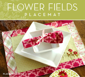Flower Fields Place Mat by Joel & Laurie Dewberry