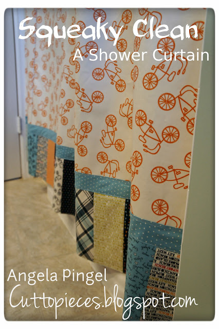 A shower Curtain by Moda Bake Shop