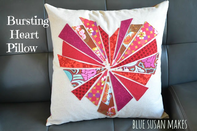 Bursting Heart Pillow from Blue Susan Makes