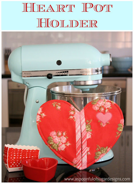 Heart Pot Holder by A Spoon Full of Sugar