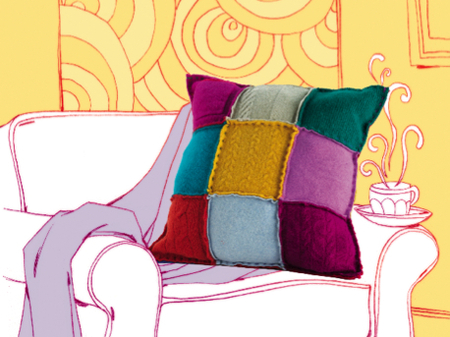 Upcycled Sweater Pillows by Craft Foxes