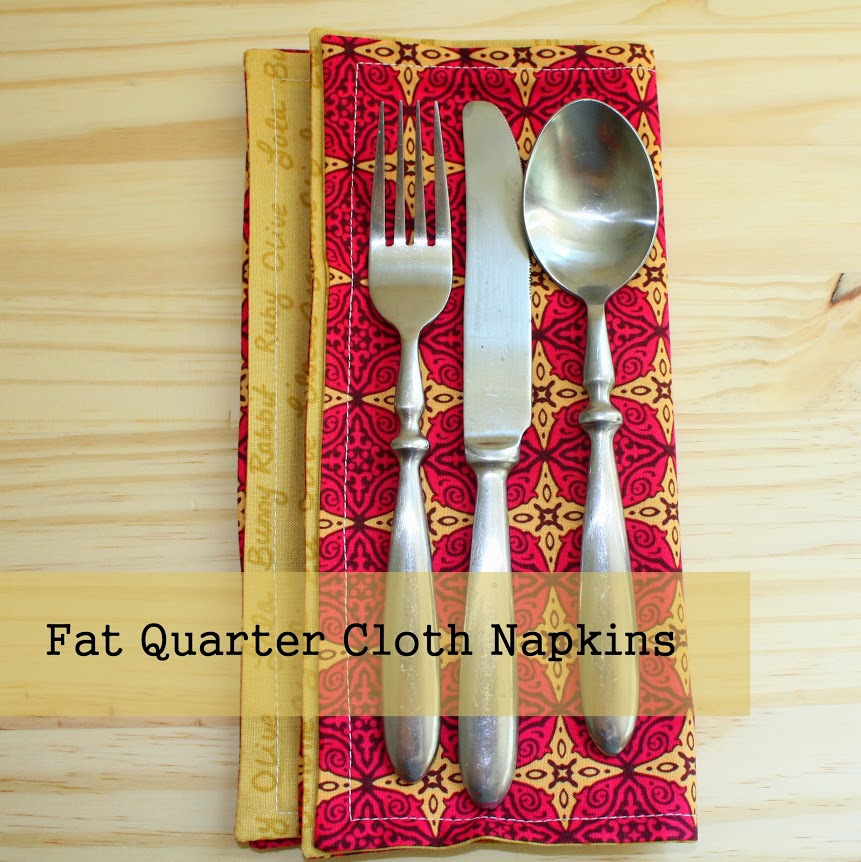 Fat Quarter Cloth Napkins by Made With Moxie
