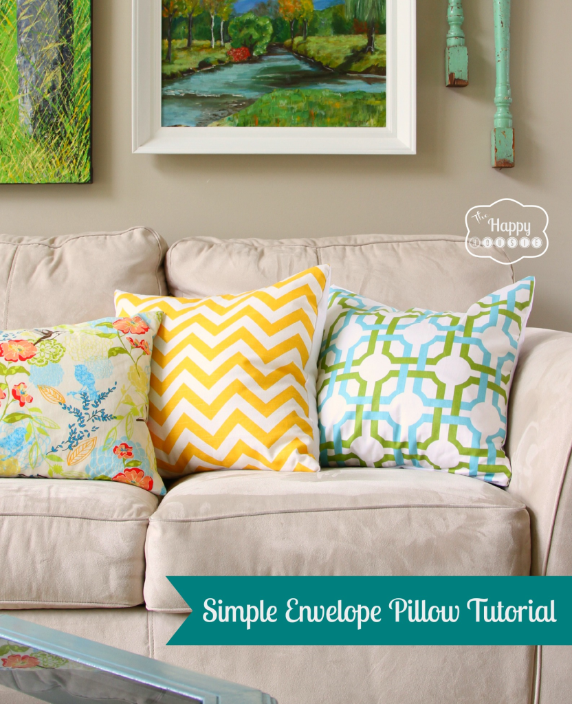 Simple Envelope Pillow by The Happy Housie
