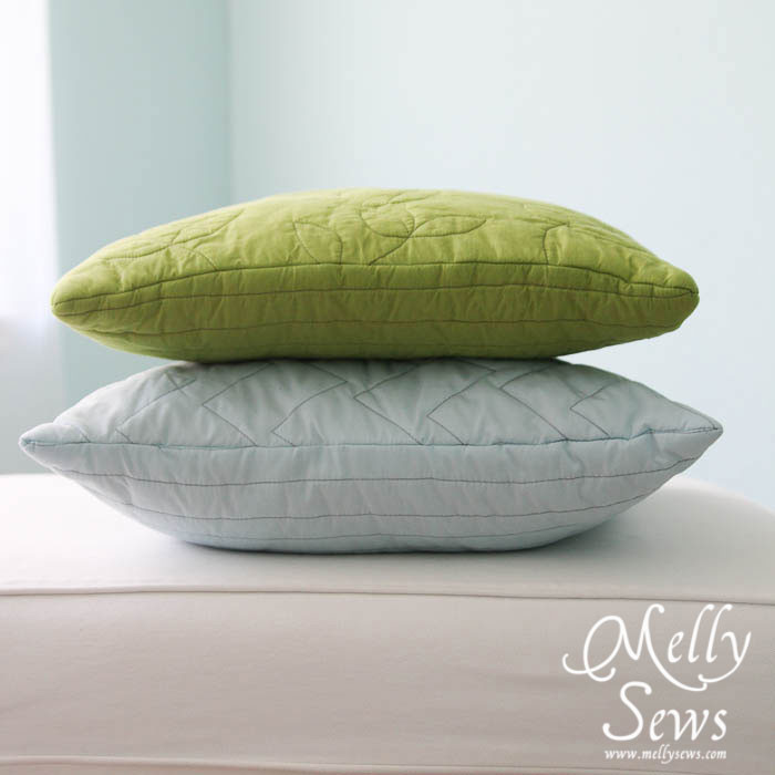 Easy Quilted Pillow by Melly Sews