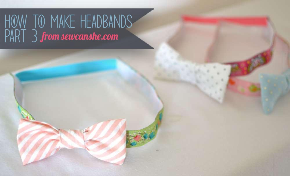 How to sew headbands for slippery hair.