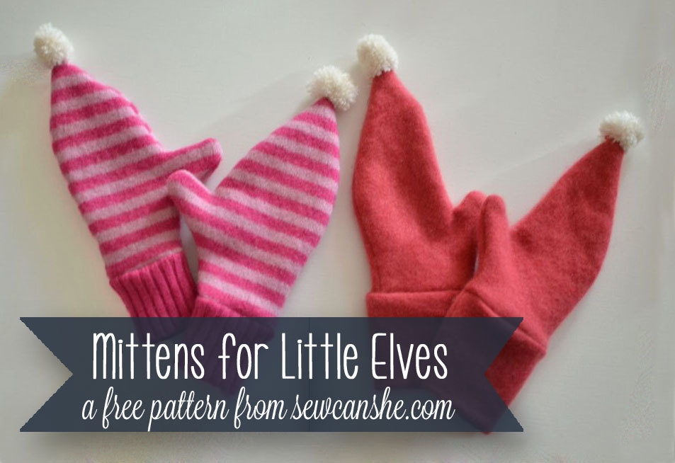 Mittens for Little Elves Upcycling Pattern