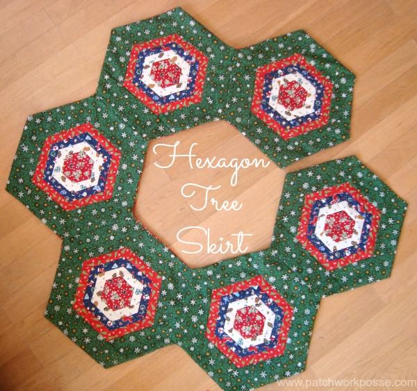 Hexagon Tree Skirt from So Sew Easy