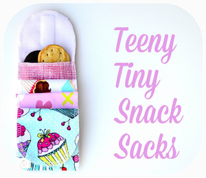 Teeny Tiny Snack Sacks tutorial from Jane of all trades