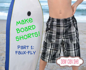 Free board shorts pattern