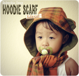 Kids Hoodie Scarf Pattern by Suburbia Soup