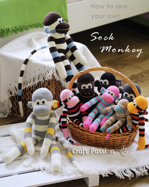 How to sew a sock monkey by Craft Passion