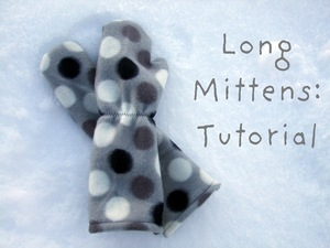 Free Pattern for Long Fleece Mittens from Lemon Squeezy Home