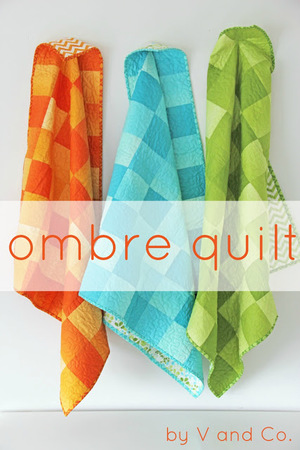 Ombre Baby Quilt by V and Co