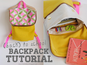 Back to School Backpack tutorial by hart and sew