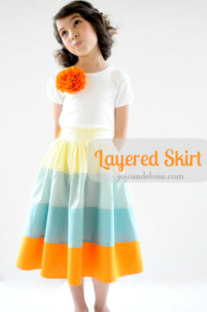 Layered Skirt Tutorial from Jojo and Eloise