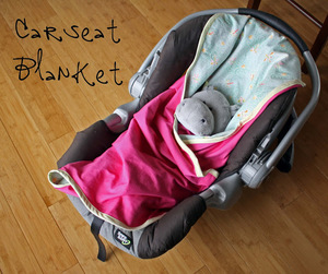 Car Seat Blanket Tutorial from Running With Scissors