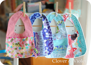 Baby Bib Tutorial from Clover and Violet