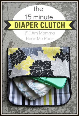 Quick Diaper Clutch free sewing pattern from I am Momma
