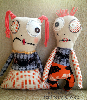 His and Hers Zombie Dolls by Audrey Petit