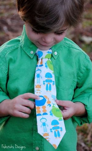 Totally Terriffic Ties Free Sewing Pattern from Fishsticks