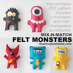 Felt Monsters by Its Always Autumn