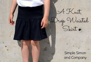 Knit Drop Waisted Skirt Pattern from Simple Simon