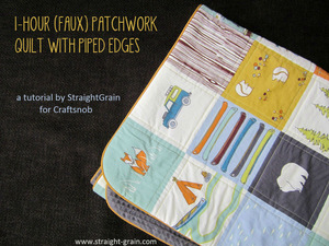 Faux Patchwork Quilt from Craftsnob