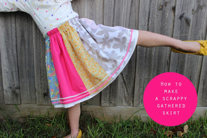 Scrappy Gathered Skirt Tutorial from Sewpony