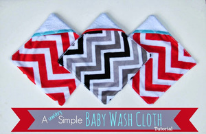 Baby Washcloth tutorial from SewVery